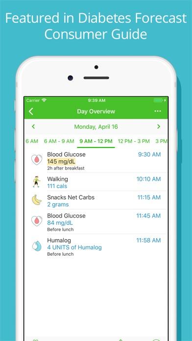 Diabetes Tracker By Mynetdiary review screenshots