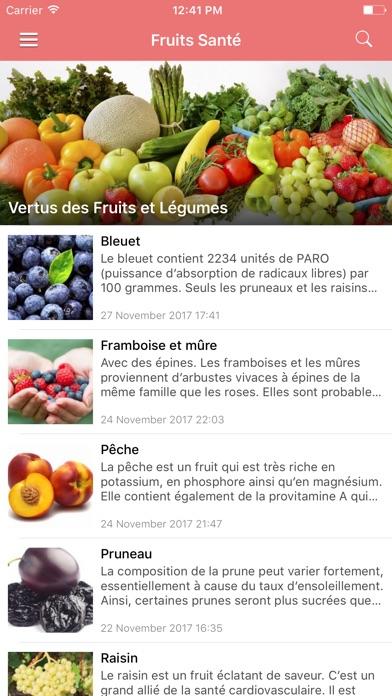 Screenshot #1 pour Aliments Santé