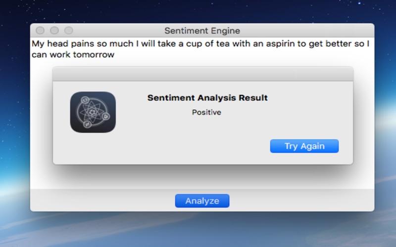 Sentiment Analysis Engine скриншот программы 3