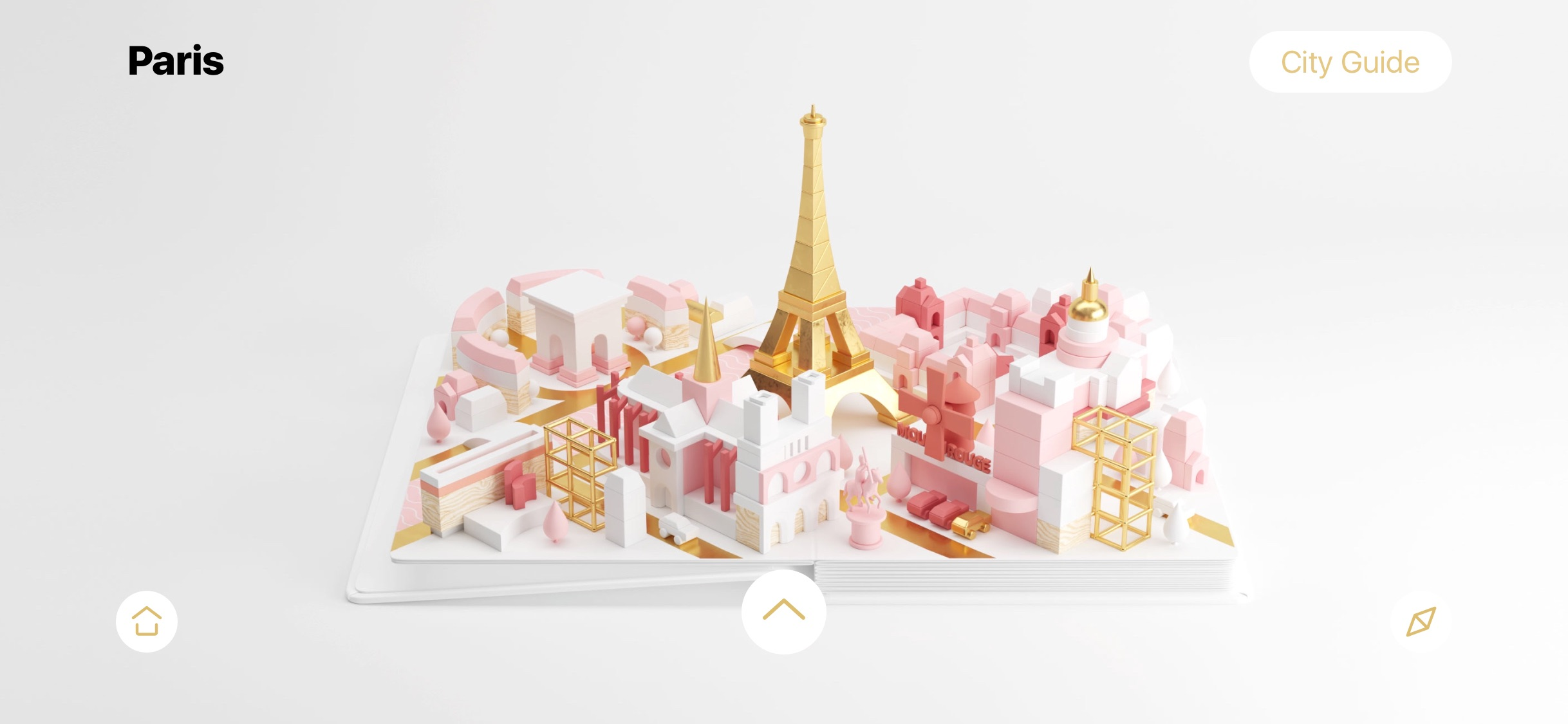 Screenshot do app AirPano City Book