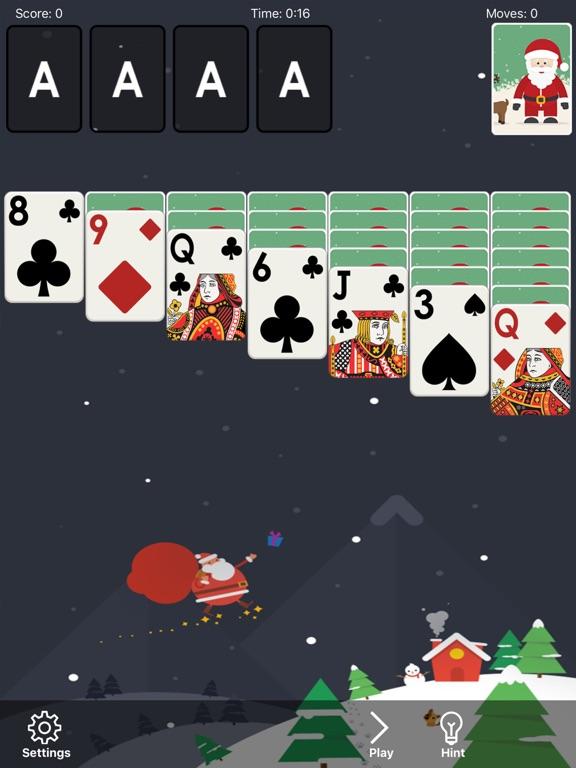 screenshot 1 for klondike solitaire christmas