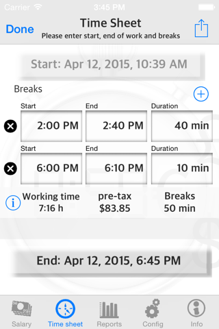 Arbeitszeit Projekte Lenkzeit - náhled