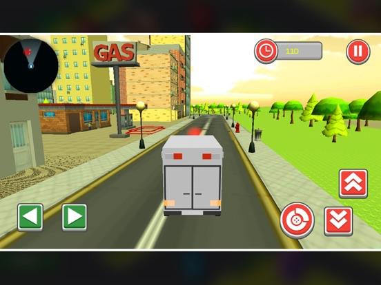 911 Blocky Ambulance Sim Game screenshot 5