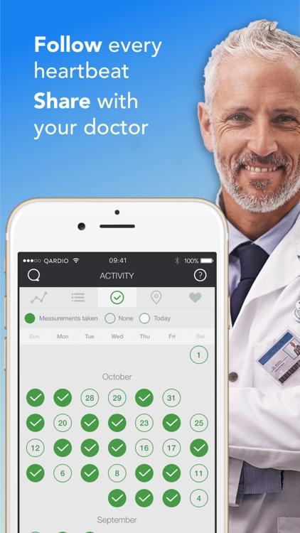 Qardio Blood Pressure, Weight and ECG/EKG Tracker screenshot-4