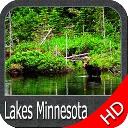 Minnesota lakes HD GPS nautical charts fishing map