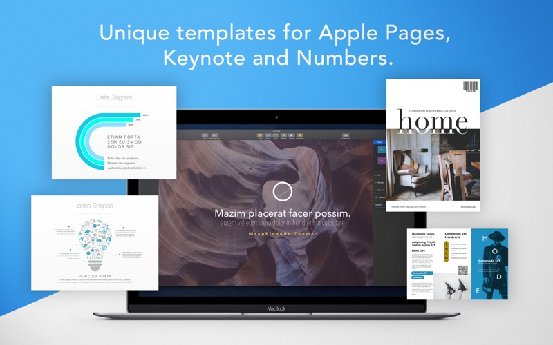 Bundle for iWork -GN Templates Screenshots