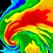 天気レーダー: 天気と気温