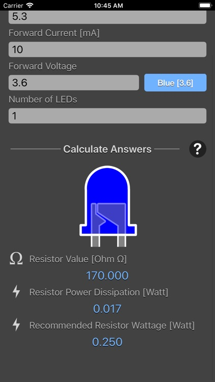 LED Resistor Calculator Plus screenshot-4