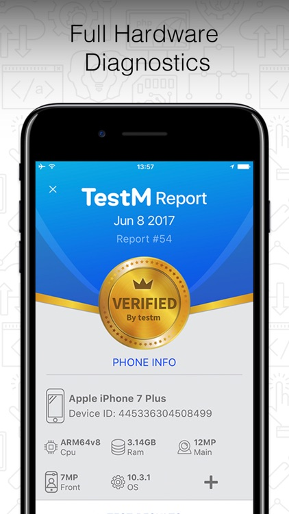 TestM - Check phone & Report screenshot-0