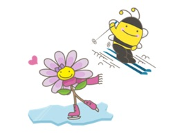 Bee and Flower Love Sport
