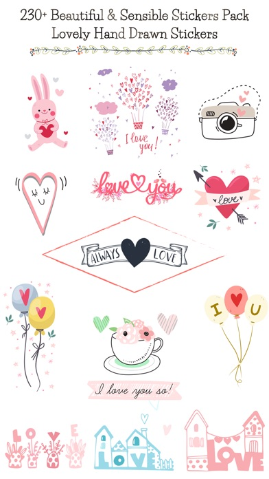 Hand Drawn Send Love Stickers screenshot 1