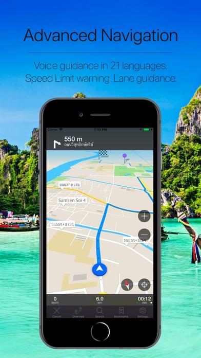 Thailand Offline Navigation Screenshot