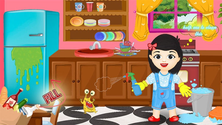 Baby Girl Clean House