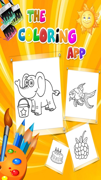 Kids Coloring Book-Kids Learn