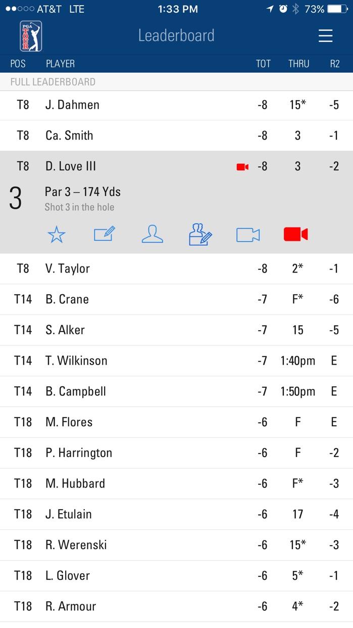 PGA TOUR Mobile Screenshot