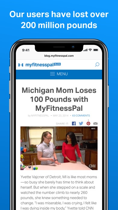 download MyFitnessPal apps 1