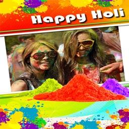 Happy Holi Photo Collage Frame