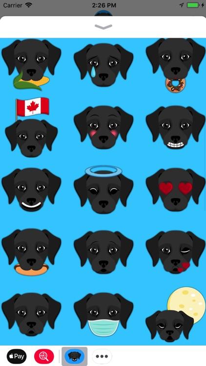Black Labrador Emoji