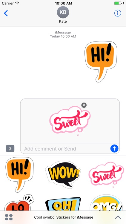 Cool symbol stickers for iMessage