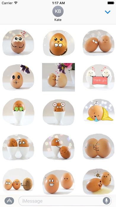 Story of Cute Eggs Sticker screenshot 1