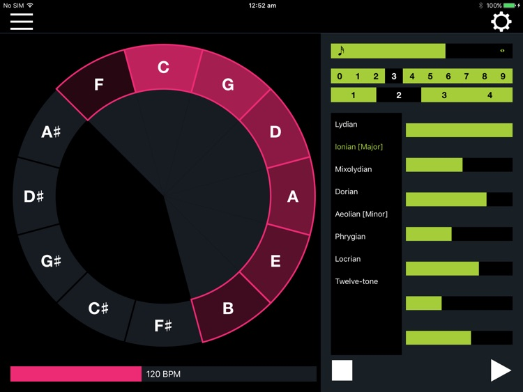 Fifth Degree: MIDI Sequencer