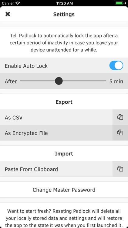 Padlock: Secure Password Store screenshot-4