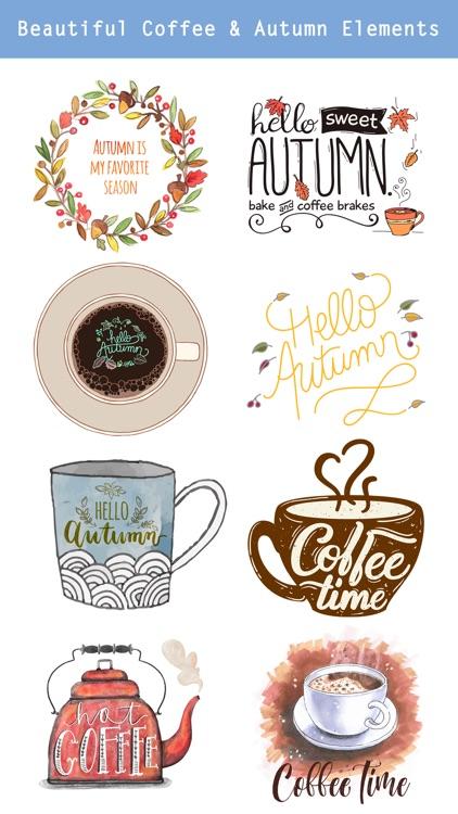Autumn Love - Coffee & Flower & Quotes screenshot-3