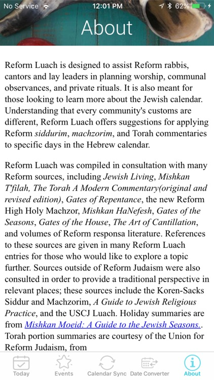 Reform Luach screenshot-5