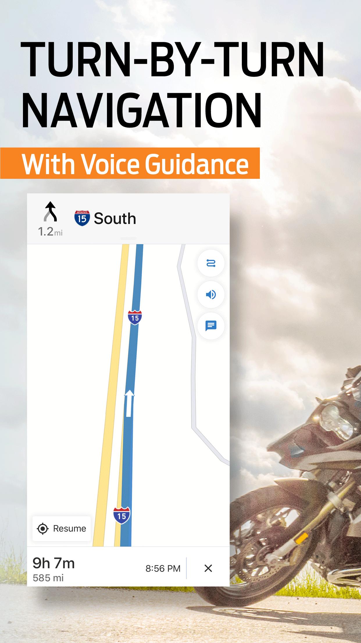 REVER: Motorcycle, Maps, & GPS Screenshot
