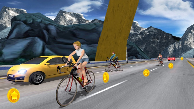 In Bicycle Racing on Highway screenshot-3