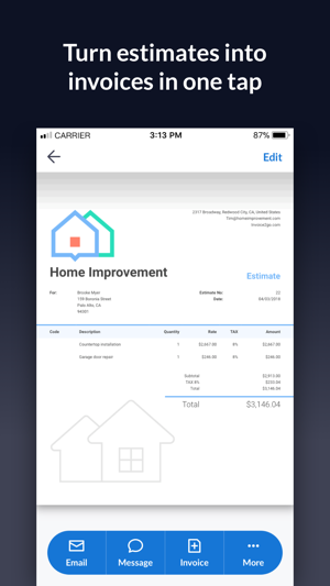 Invoice Go Invoice Estimate On The App Store - Free business invoice templates word online dress stores