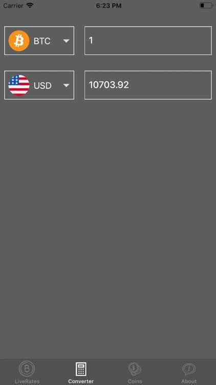 Live Crypto Rates Converter screenshot-4