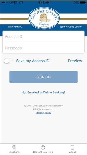 Old Fort Banking Co. Mobile on the App Store