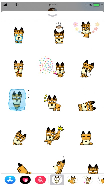 TF-Dog 2 Stickers