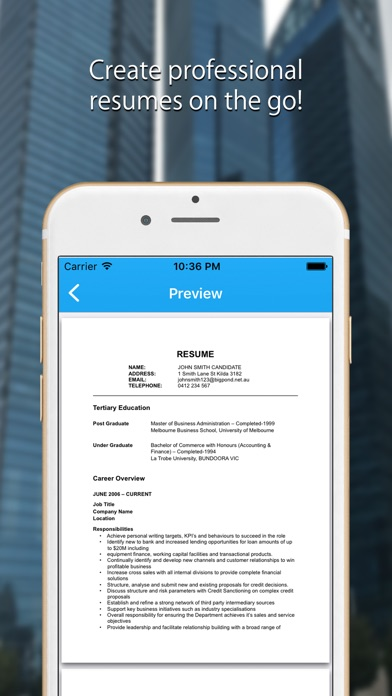 Resume Builder Resume Creator App Mobile Apps - Mobile-resume-builder