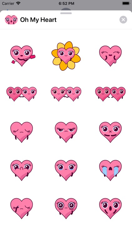 Oh My Heart Animated Stickers