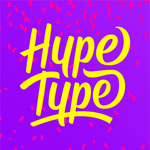 Hype-Type: Moving Text Photo-s