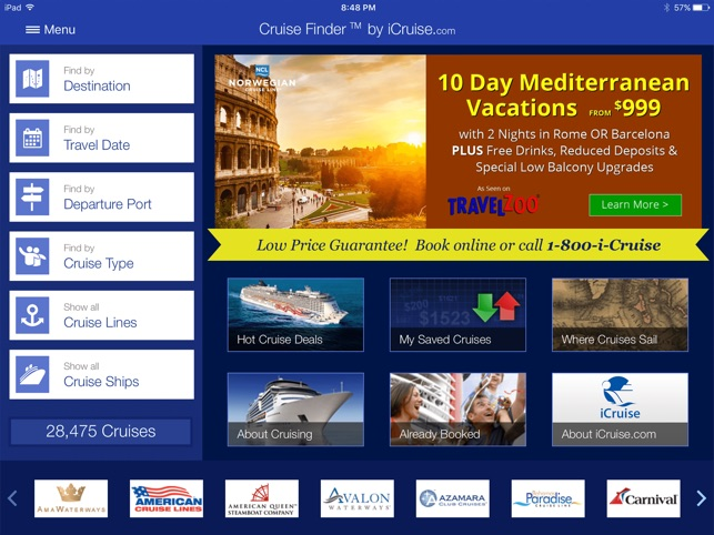 Cruise Finder By Icruise On The App Store