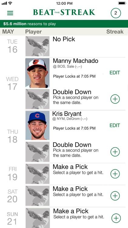 MLB Beat the Streak screenshot-3