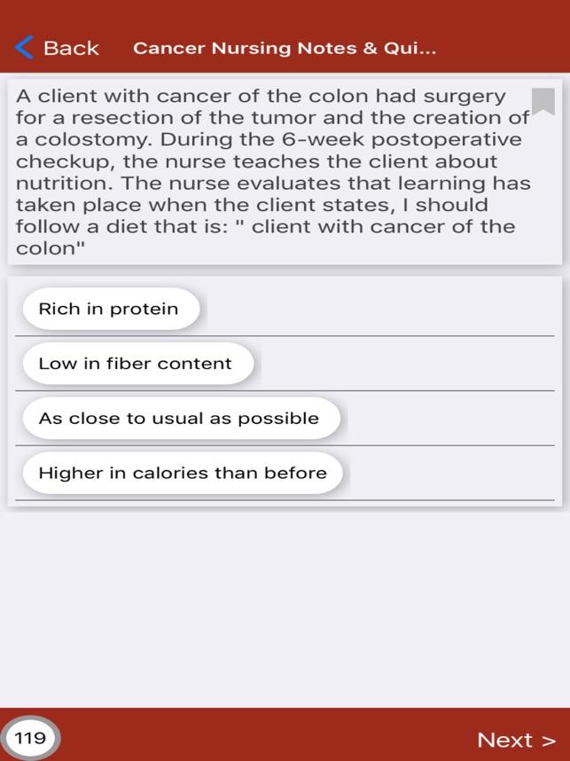 Cancer Nursing Exam Review