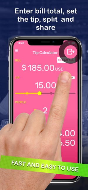 tip calculator bill split on the app store