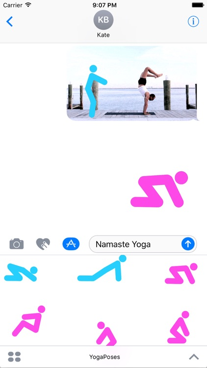 Yoga Poses Animated Stickers