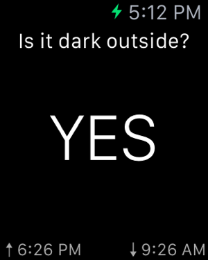 ‎Is it dark outside? Screenshot