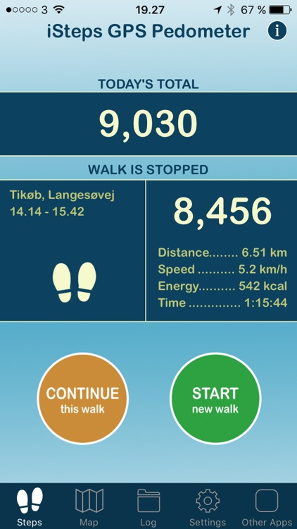 iSteps GPS Pedometer PRO