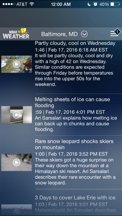 WBAL-TV 11 Weather screenshot-3
