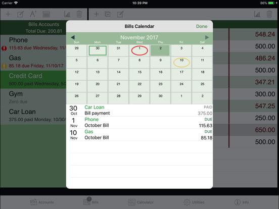 iCheckBalance for iPad screenshot four