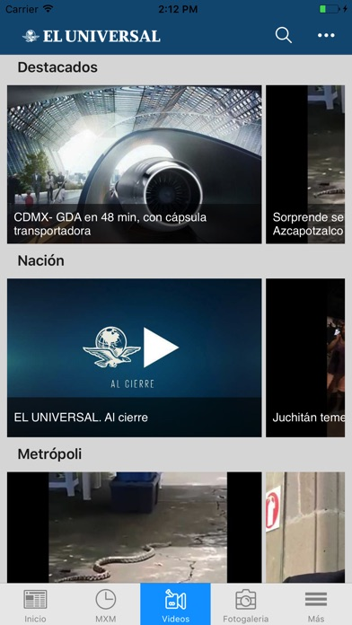 El Universal review screenshots