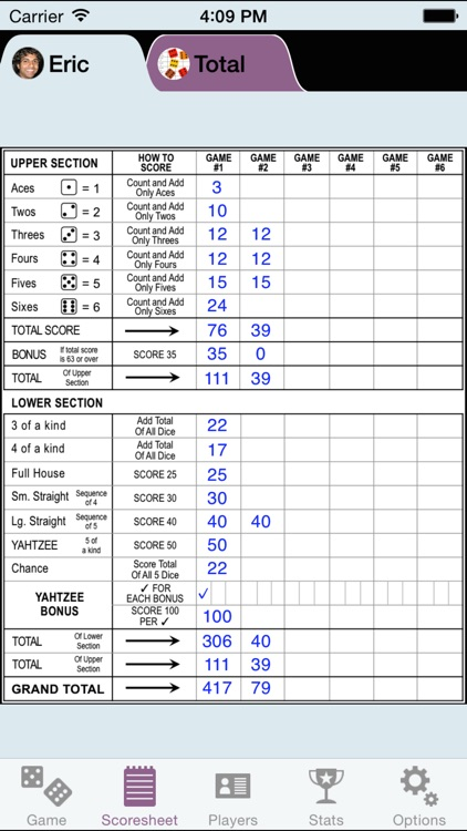 YZ Score - YAHTZEE® scoresheet screenshot-0