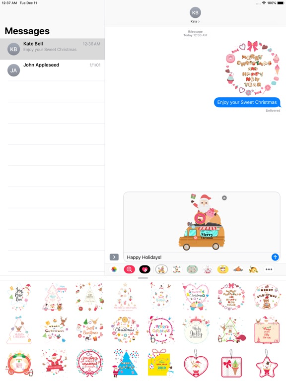 Sweet Happy Christmas Stickers screenshot 7