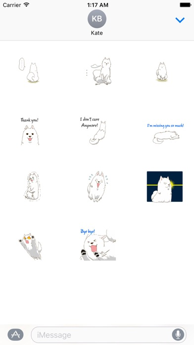 Laika The Samoyed Dog Sticker screenshot 3
